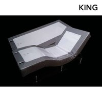 King Electric Bed Frame with Wall Hugger Split
