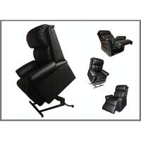 Electric Lift Chair w/ Massage Function in Black