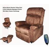 Electric Lift Chair w/ Massage Function in Brown