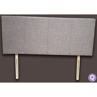 Queen Size Fabric Upholstered Headboard in Grey