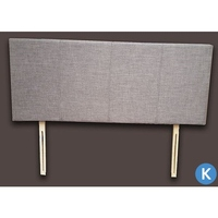 King Size Fabric Upholstered Headboard in Grey
