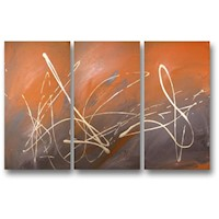3 Canvas Abstract Painting #229