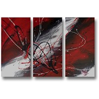 3 Canvas Abstract Painting #238