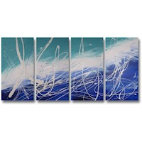 4 Canvas Abstract Painting #288