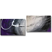 2 Canvas Abstract Painting #296