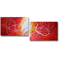 2 Canvas Abstract Painting #298