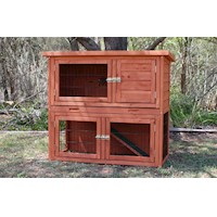 Aspen Double Storey Rabbit Guinea Pig Cage Hutch
