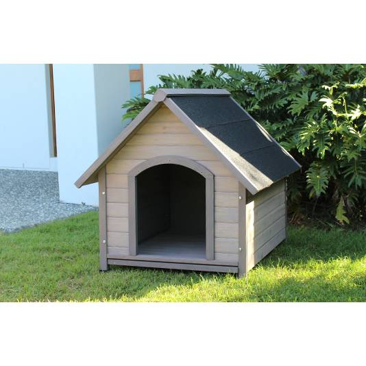 Large outdoor insulated cedar dog house kennel buy dog for Insulated outdoor dog house