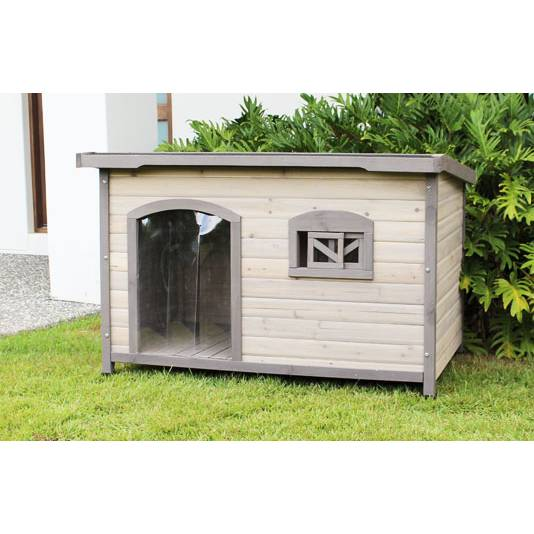 Extra large wooden insulated flat roof dog house buy 30 for Large insulated dog house