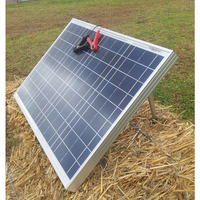 40W Solar Panel with Support Legs & Alligator Clips