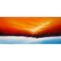 Rising Sun Oil Painting Artwork 180x60cm
