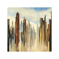 Skyline Oil Painting Artwork 100x100cm