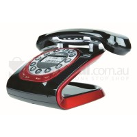 Black Retro Cordless Phone Uniden Modro LCD Display