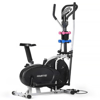 Elliptical & Exercise Bike w/ Dumbbell Set & Bands