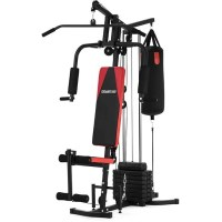 Multi Station Home Gym w/ Punching Bag 45kg Weights