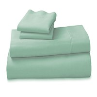 Arabella King 100% Cotton Sheet Set in Sage 1000TC