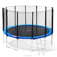 Outdoor Round Trampoline w/ Safety Net in Blue 16ft