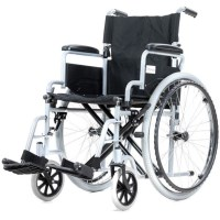 Foldable Wheelchair with Handles & Wheel Grips 24in