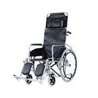 Foldable Pneumatic Steel Recliner Wheelchair 24in