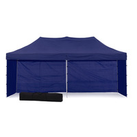 Wallaroo Folding Pop Up Marquee Gazebo in Blue 3x6m