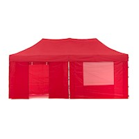 Wallaroo Folding Pop Up Marquee Gazebo in Red 3x6m