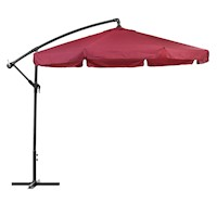 Cantilever Outdoor Market Patio Umbrella in Red 3M