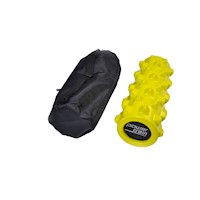 Extra Firm Grid Foam Roller Bright Yellow 30x15cm