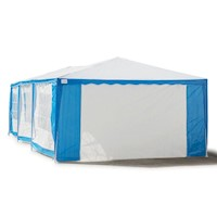 Outdoor Folding Pop Up Marquee Gazebo Blue 4x8m