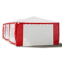 Outdoor Folding Pop Up Marquee Gazebo in Red 4x8m