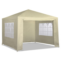 Outdoor Folding Pop Up Marquee Gazebo in Beige 3x3m