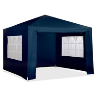 Outdoor Folding Pop Up Marquee Gazebo in Blue 3x3m