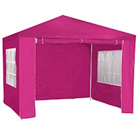 Outdoor Folding Pop Up Marquee Gazebo in Pink 3x3m