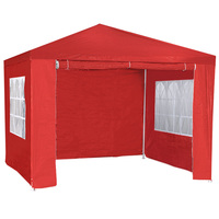 Outdoor Folding Pop Up Marquee Gazebo Red 3x3m