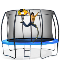 Kahuna Spring 8ft Trampoline w/ Basketball Set