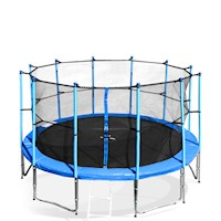 14 ft Storm Trampoline  with New Enclosure in Blue