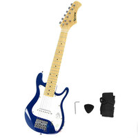 Kids Electric Guitar with Shoulder Strap in Blue