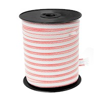 Electric Fence Polytape in Red and White 400m