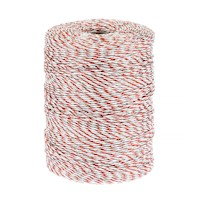 Farm Electric Fence Polywire in Red & White 600m
