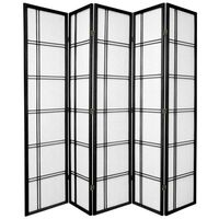 5 Panel Divider Privacy Screen Black Cross 220cm