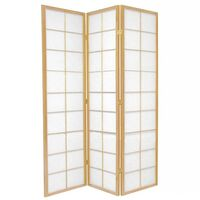 3 Panel Room Divider Screen in Natural Zen 132cm
