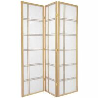 3 Panel Room Divider Screen in Natural Cross 132cm