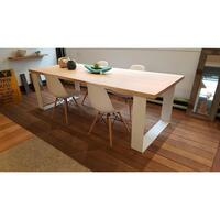 Grange Victorian Ash Timber White Dining Table 1.8m