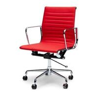 Red Management Leather Office Chair - Eames Replica