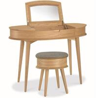 Asta Retro Scandinavian Oak Dressing Table Natural