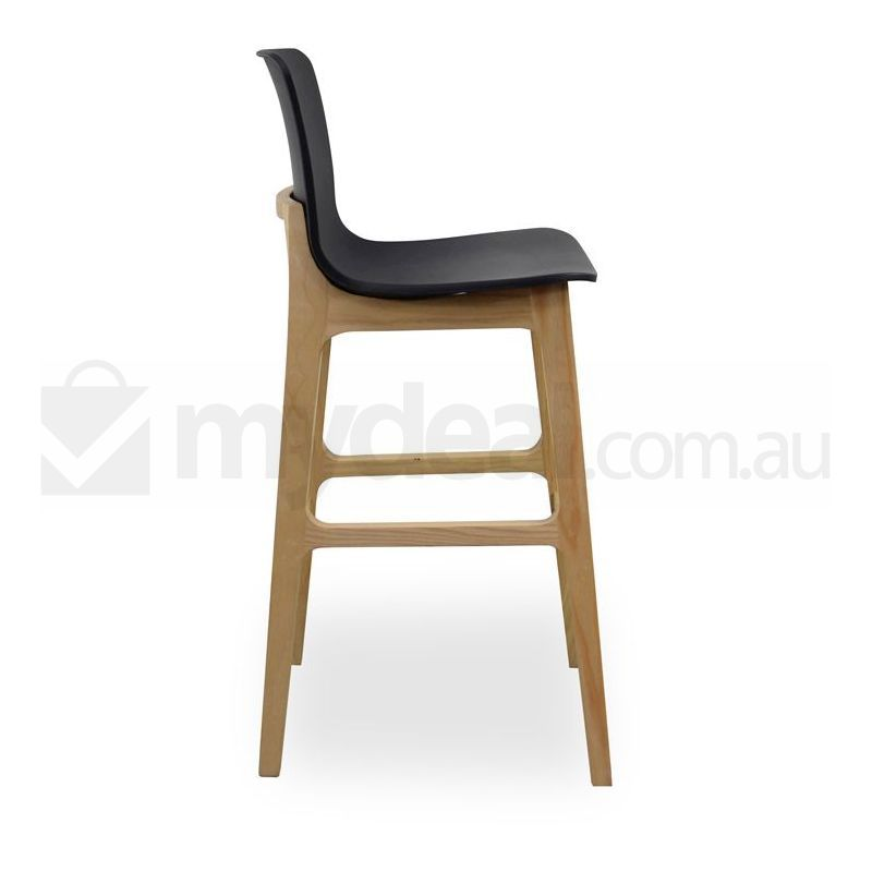 Harris Black Seat Bar Stool Natural Wood Simple Buy  : BS1402020 from www.mydeal.com.au size 800 x 800 jpeg 37kB
