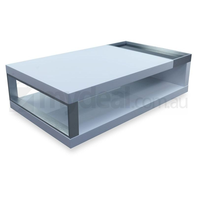Hera glass and wood coffee table white buy tables for Buy white coffee table