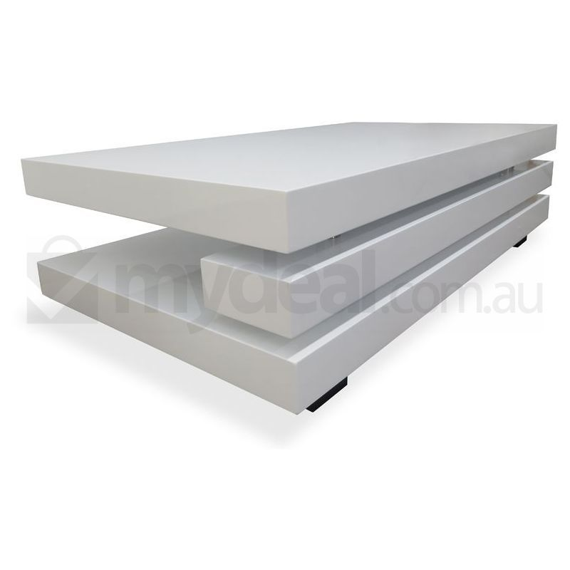 Caesar modern block mdf chrome coffee table white buy for Buy modern coffee table