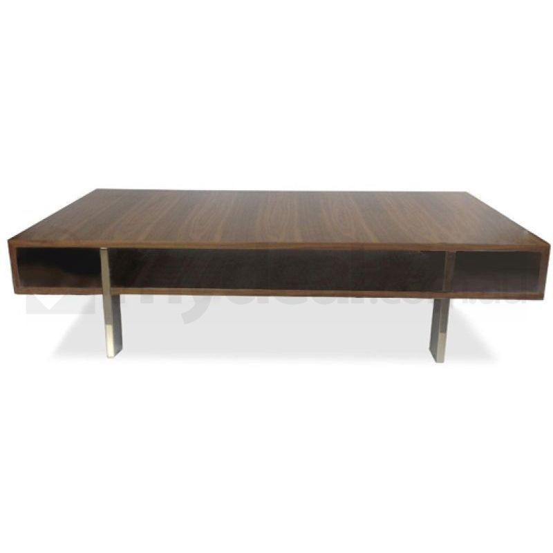 Rio Walnut Wooden Lounge Coffee Table Open Centre Buy Tables
