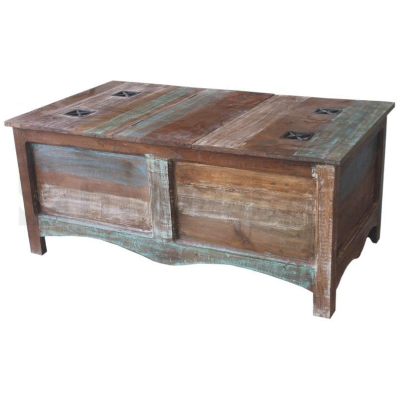 Angora Trunk Reclaimed Wood And Metal Coffee Table Buy Tables