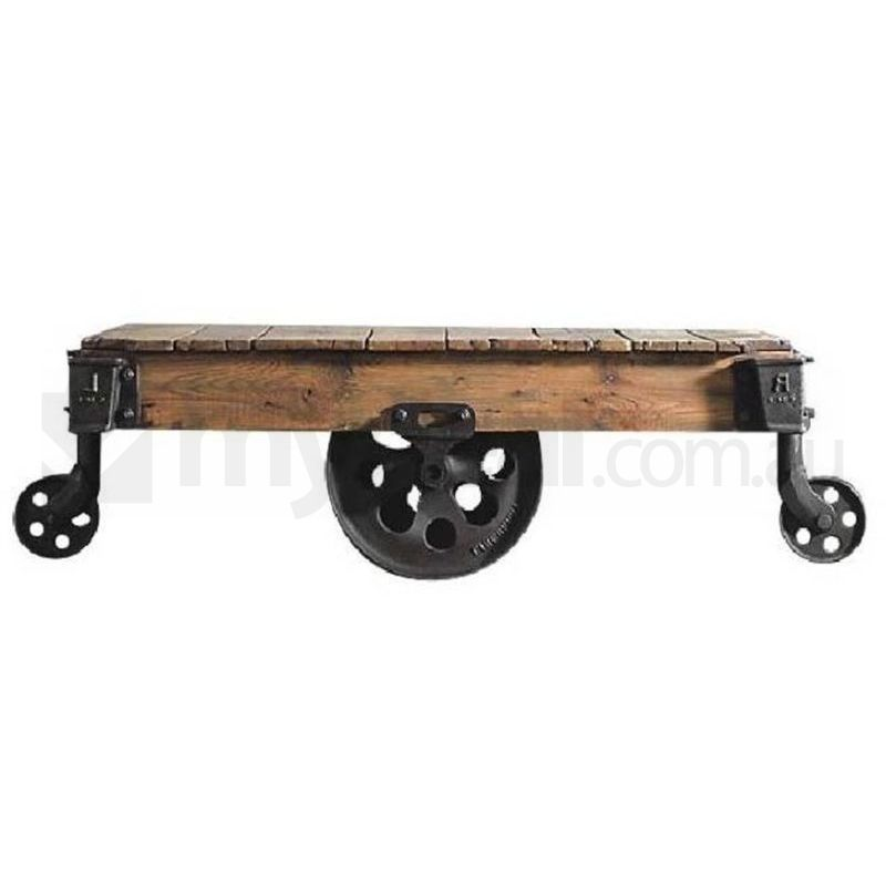 Spencer reclaimed cart retro antique coffee table buy tables for Cart coffee table